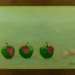 Äpfel & Eier, 1998, Hgl, 65 x 46 cm, 350,-€