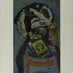 Jägermeister, 2007, Hinterglasmalerei auf  Industrieglas, 43 x 61 cm, 300,--€