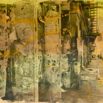 Soho N.Y., 1991, Mischt./Fotoemulsion/LW, 160 x 120 cm