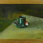 Espressso grün, 2002, Hgl, 50 x 41 cm, 270,-€