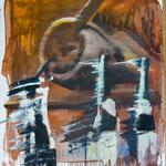 Propeller, Ölpapier, 1988, 86 x 98 cm