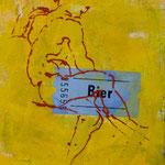 Bier, 1986, Mischt./LW, 105 x 135 cm, 900,--€