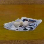 Eier auf Zeitung, 2001, Hgl, 56x40 cm, 220,-€