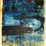 Meteorit, Ölpapier, 1989, 80 x 108 cm