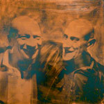 Dizzy und Walter, 1992, DGN, Mischt./Fotoemulsion/LW, 100 x 100 cm,--€