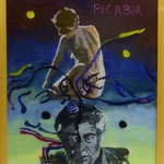 """Picabia III, 1991, Hgl, 43 x 53 cm, 280,-€, Aus der Serie """"Freund und Bekannte"""""""
