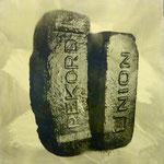 Rekord Union, DGN, 1992, Mischt./Fotoemulsion/LW, 100 x 100 cm, 700,--€