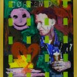 """Dobloug II, 1991, Hgl, 43 x53 cm, 280,€, Aus der Serie """"Freunde und Bekannte"""""""