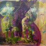 Lachende Kunst, 1991, Mischtechnik mit Fotoemulsion/LW, 160 x 120 cm , nicht verfügbar