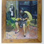 Nagelfeilen, 1984, HGl, 75 x 88 cm, 680,-€