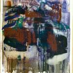 Telefone, Ölpapier, 1988, 51 x 68 cm