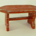 Schemel rot, 2011, Holzobjekt, 19 x 37 x 17 cm, 45,-€