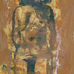 Akt, Ölpapier, 1993, Ölpapier, 50 x 70 cm