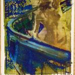 Achterbahn, Ölpapier, 1988, 60 x 78 cm