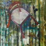 Waldstuhl, Ölpapier, 1988, 60 x 72 cm