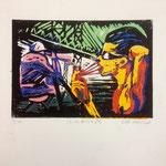 O.T., Farblinol, 1986, ca. 40 x 50 cm, noch 6