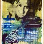 Mandoline, Ölpapier, 1988, 56 x 77 cm