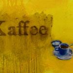Kaffee, 1997, Mischtechnik/LW, 139 x 101 cm