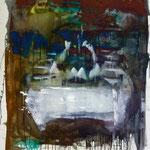 Tischtuch, Ölpapier, 1988, 88 x 114 cm