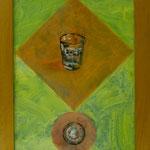 Wasserglas, 2003, Hgl, 36x46 cm, 200,-€