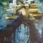 Kippenportrait, Ölpapier , 1988, 51 x 63