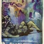 Oh Schreck, Ölpapier, 1988, 60 x 79 cm