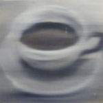 unscharfe Tasse, 1992, Öl/LW, 50 x 40 cm