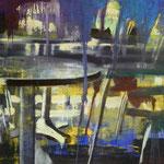 Leman´s Cafe, 1987, Mischt./LW, 77 x 97 cm