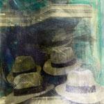 Hüte, Fotoemulsion/LW, 1991, 70 x 100 cm
