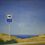 Sehenswürdigkeit, 2005, Öl/LW, 130 x 96 cm