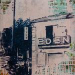 Eden, 1992, Mischtechnik auf Dekostoff, 67 x 113 cm