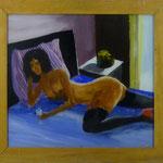 Akt + Obst, 1983, Hgl, 52 x 48 cm, 330,-€