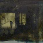 Savingyplatz, DGN, 1991, Mischt./Fotoemulsion/LW,  100 x 70 cm, 450,--€