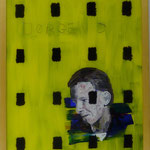 """Dobloug I, 1991, Hgl, 43 x 53 cm, 280,-€, Aus der Serie """"Freunde und Bekannte"""""""