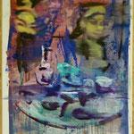 Tablet, Ölpapier, 1988, 60 x 80 cm