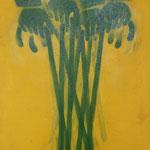 Stöcke, 2005, Mischtechnik auf LW, 66 x 98 cm