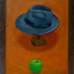 Hut und Apfel, 2001, Hgl, 48 x 65 cm, 450,€