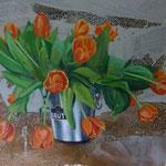 Tulpen, 1995, Mischt./LW, 140 x 111, 950,-€