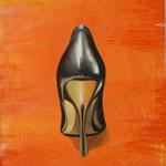 High Heel, 2005, Mischtechnik aud LW, 66 x 98 cm