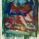 O.T., Ölpapier, 1988, 52 x 73 cm