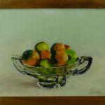 Früchteschale, 2000, Hgl, 56 x 45 cm, 330,-€