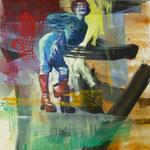 Lachende Kunst, 1988, Mischtechnik /LW, nicht verkäuflich