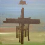 Rekonstruktion,1991, DGN, Mischt./Fotoemulsion/LW, 100 x 100 cm
