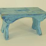 Schemel blau, 2011, Holzobjekt, 18 x 31 x 17 cm, 45,-€