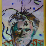 """Picabia I, 1991, Hgl, 43 x53 cm, 280,-€, Aus der Serie """"Freunde und Bekannte"""""""