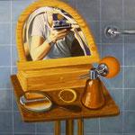 Im Spiegel, 1982, Öl/LW, 80 x 98 cm, 800,--€