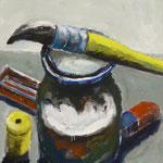 Pinsel, 1985, Mischt./LW, 70 x 80 cm, 300,--€