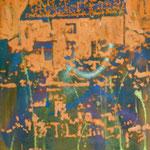 Rotes Haus, 1989, Mischt.LW, 77 x 102 cm,