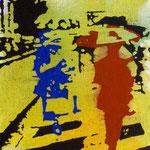 Rote Figur, 1997, Mischt./LW, 60 x 70 cm