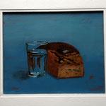 Wasser und Brot, blau, 2012, Hgl,  61 x 52 cm,                  420,€